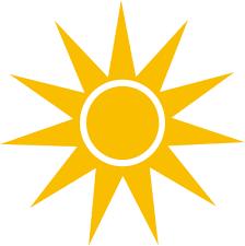 sun rays sharp orange weather sun sun sharp rays