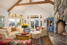 cottage livingrooms cottage living room with fireplace hardwood floors in