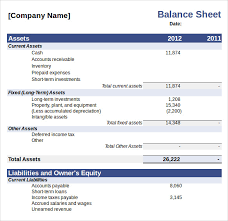 Balance Sheet Template Sle Balance Sheet 9 Documents In Word Excel Pdf