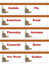 printable thanksgiving cards for pictionary charades