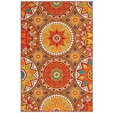 Shaw Living Medallion Area Rug Shaw Living Medallions 5 Ft 3 In X 7 Ft 10 In Indoor