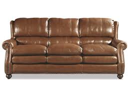 Traditional Leather Sofas Craftmaster L1646 Traditional Leather Sofa With Bustle Back And