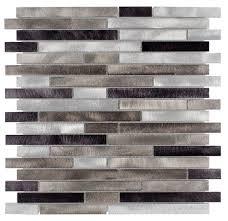 Aluminum Mosaic Wall Tiles Mineral Tiles - Aluminum backsplash