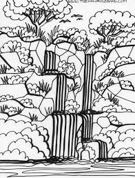 realistic forest coloring pages realistic forest coloring pages