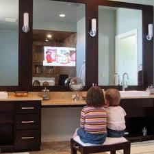 bathroom mirrors mirror with tv in it bathroom decor color ideas