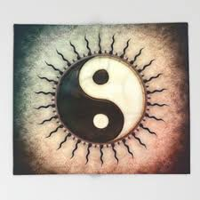 yin yang throw blankets society6