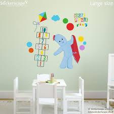 igglepiggle play wall sticker stickerscape uk igglepiggle play wall sticker