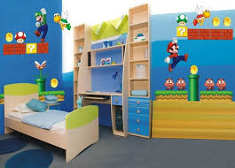 Bunk Bed Boy Room Ideas Bedroom Beautiful Blue Brown Wood White Unique Design Wall Mario