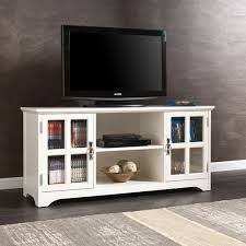 entertainment centers with glass doors southern enterprises remington tv media stand white hayneedle