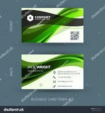 Flat Design Business Card Vector Modern Creative Clean Business Card Stock Vector 257356135
