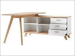 dessous de bureau dessous de bureau 843917 bureau d angle en bois avec 4 niches 3