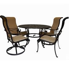 hanamint valbonne sling 5 piece dining set outdoor furniture