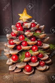 pine cone table decorations pine cone decorated with cranberries as tree for christmas on
