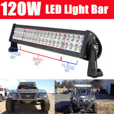 24 inch led light bar offroad 24 inch 120w led work light bar spot flood combo beam led driving