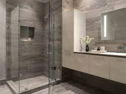Modern Gray Tile Bathroom Townsend Modern Bathroom San Francisco Ca Gray White Glass