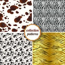zebra print wrapping paper set of seamless pattern set design animal print pattern texture