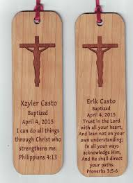 baptism engraving laser engraved wood baptism favor bookmarks baptism favors and