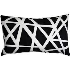 Black Sofa Pillows by Bird U0027s Nest Black Throw Pillow 12x20 From Pillow Décor