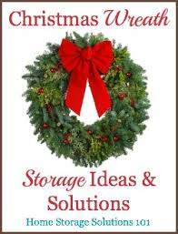 wreath storage solutions for or any time of year