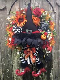 Halloween Wreath Witch Legs Reducedwicked Witch Halloween Wreathwizard Of Ozruby Red