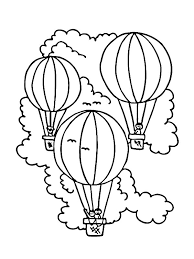 adventure on air balloon coloring pages coloring sky