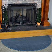 5 u0027 half round blue guardian fireplace rug northline express