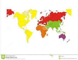 Seven Continents Map Seven Continents Map Vector Illustration Stock Art Throughout