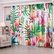 Bright Colored Curtains Beautiful Flamingo Patterned Bright Colored Curtains