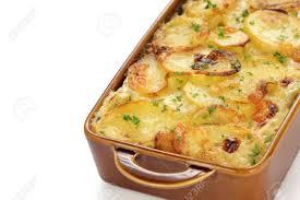 cuisine gratin dauphinois potato gratin gratin dauphinois cuisine stock photo
