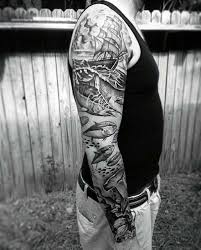 40 nautical sleeve tattoos for seafaring ink deisgn ideas