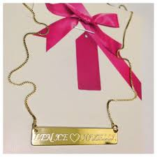 Personalized Name Plate Necklaces Personalized Nameplate Necklace For Mom Gold Plated Frugal