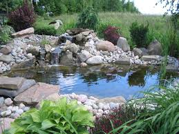 outdoor and patio corner backyard koi pond ideas mixed with small