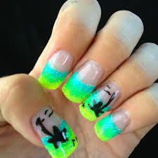 cute acrylic nails neon glitter acrylic nails pinterest