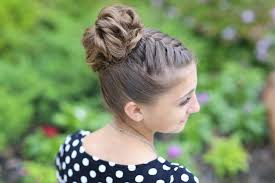 cute girl hairstyles how to french braid double french braid high bun updo cute girls hairstyles cute