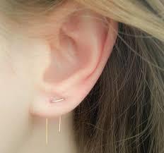two earrings piercing earrings pinteres