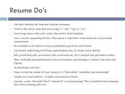 Using I In A Resume Resume Writing Tips Ppt Download
