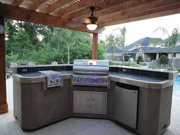 Outdoor Kitchen Cabinets And More Home Decor Wonderful Backyard Bar And Grill Outdoor Patio Bar