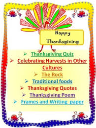 thanksgiving activities quiz the rock frames writing paper