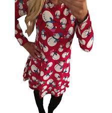 amazon com christmas dress mallcat women christmas snowman swing