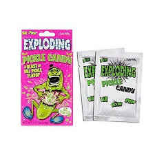pickle candy exploding pickle candy accoutrements gift idea pop rocks