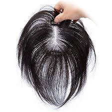 human hair wiglets for thinning hair amazon com 8 human hair clips in toppers straight top hairpiece