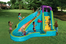little tikes outdoor inflatables slam u0027n u0027 curve water slide