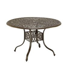 Round Garden Table With Lazy Susan by Hampton Bay Mix And Match Round Metal Outdoor Dining Table