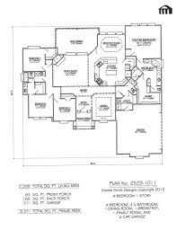 1 Story Home Floor Plans Plan No 2529 1011