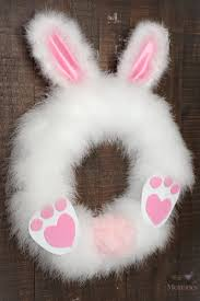 easter bunny wreath to make a fluffy easter bunny wreath in 30 minutes