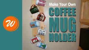 under cabinet coffee mug rack closet mr coffee mugs and rack set plus wall hanging mug rack with