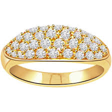 gold rings prices images Pave diamond rings buy pave diamond rings online at best price jpg