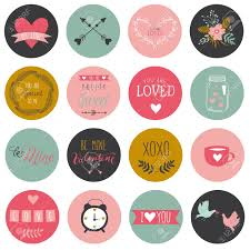 mothers day stickers and stickers and tags for happy valentines day