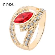 aliexpress com buy 2017 top fashion red crystal ring gold