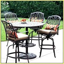 High Patio Dining Set High Top Outdoor Table High Outdoor Dining Tables Holoapp Co